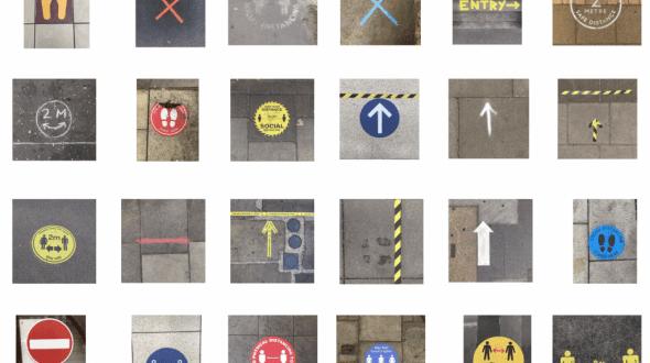 Mira estas nuevas señales en el suelo para la COVID-19